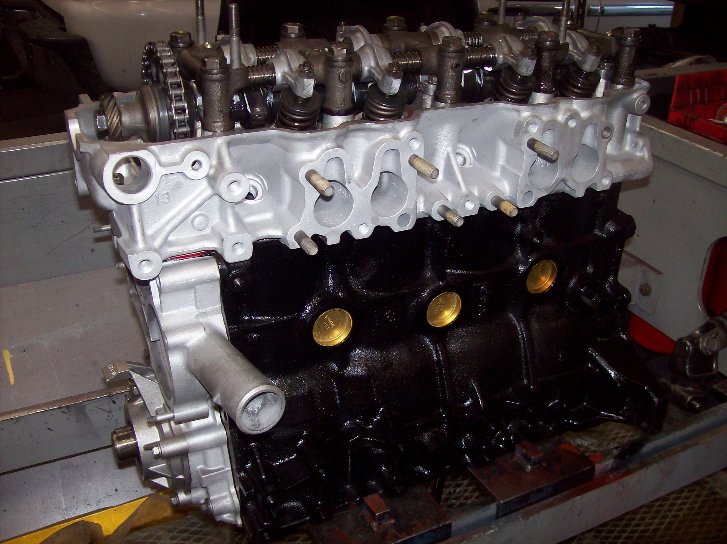 The 302 Chevy Engine on toyota 22re crate engine